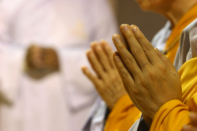 Praying Hands of Buddhists
